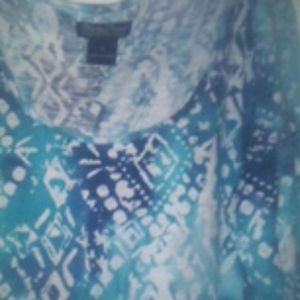 Lucky Brand contrast pattern top (m)